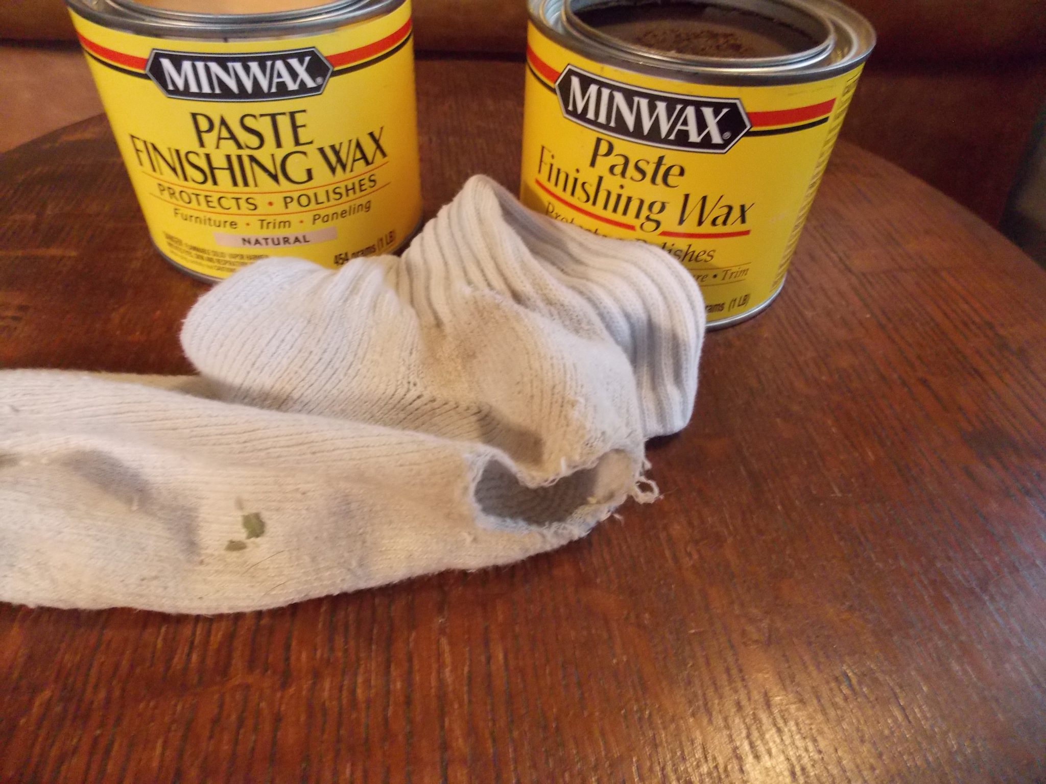 Speaking Of Application, I Save All My Worn Athletic Socks, As They Make  Great Applicators For Paste Wax. I Work The Paste Wax Into The Wood With  Small, ...